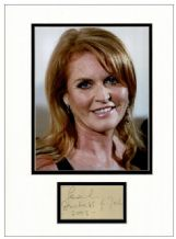 Sarah, Duchess of York Autograph Display